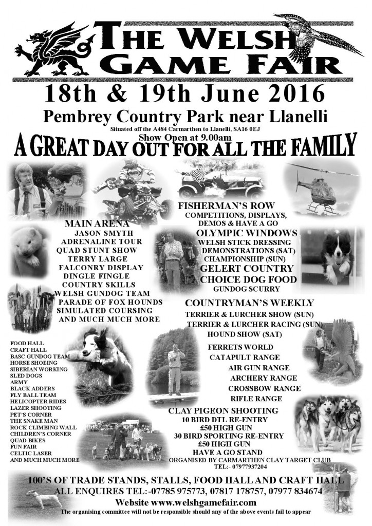 Welsh Game Fair Poster 2016